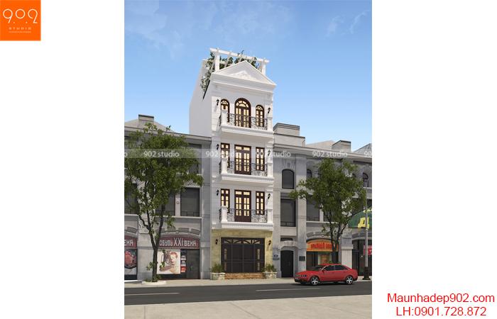 Thiết kế kiến trúc nhà lô phố -Phối cảnh 1 - NP20