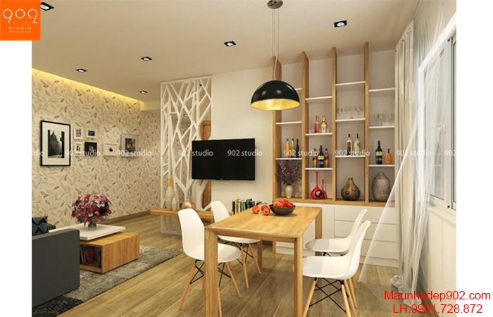 Thiết kế nội thất chung cư - phòng ăn - NT21