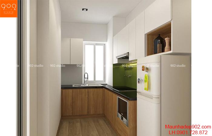 Thiết kế nội thất chung cư - phòng bếp - NT21