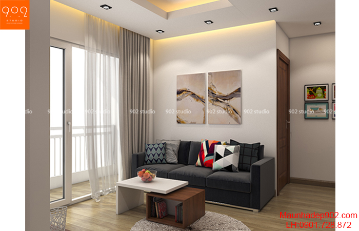 Thiết kế nội thất chung cư hiện đại - NT22