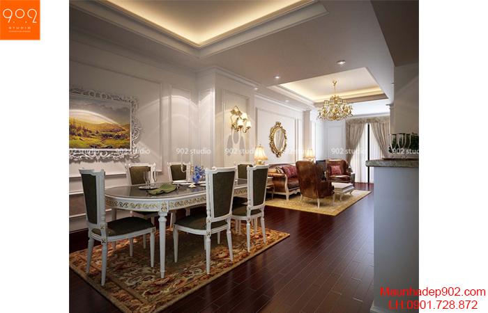 Thiết kế nội thất chung cư Hà Nội - phòng bếp - NT23
