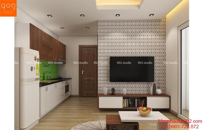 Thiết kế nội thất chung cư - Phòng khách - NT22
