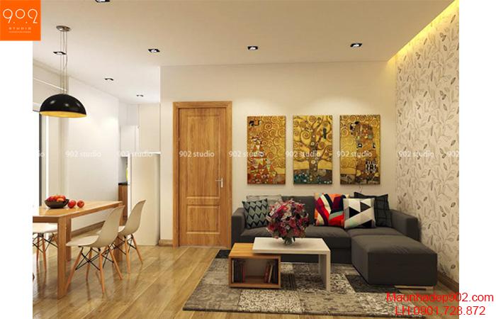 Thiết kế nội thất chung cư -Phòng khách - NT21