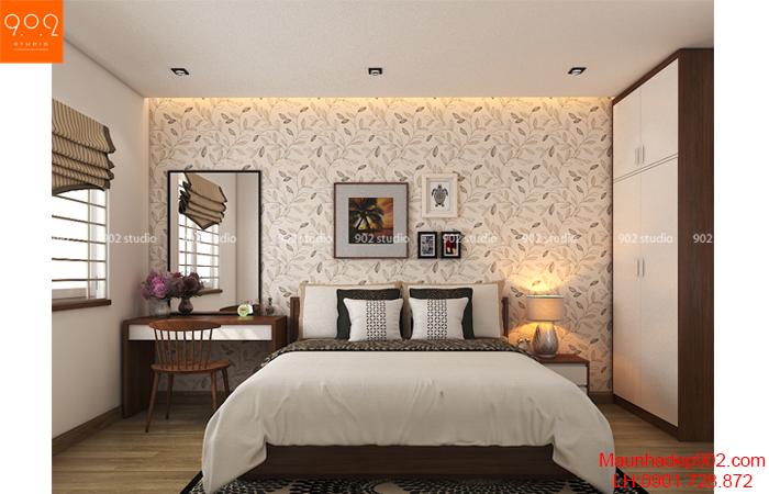 Thiết kế nội thất chung cư - Phòng ngủ 1 -NT22