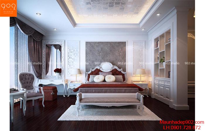 Thiết kế nội thất chung cư - Phòng ngủ 1 -NT23