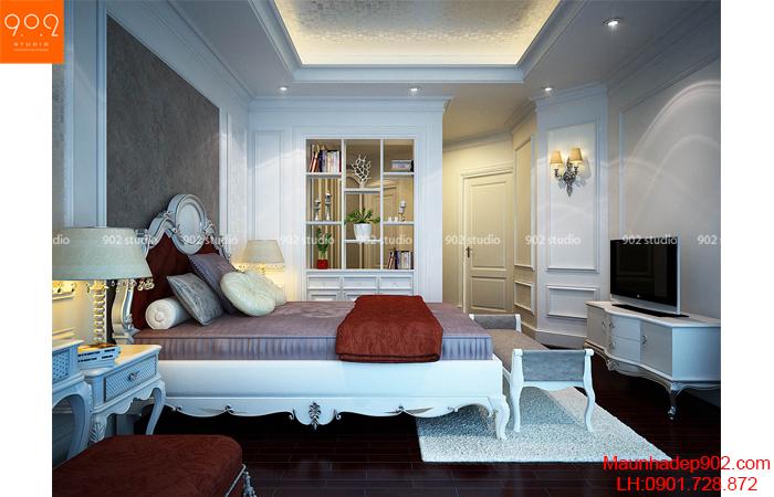 Thiết kế nội thất chung cư Hà Nội - phòng ngủ - NT23