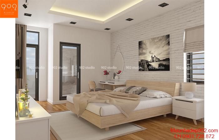 Thiết kế nội thất chung cư - phòng ngủ - NT21