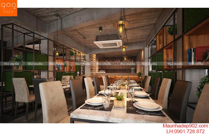 Thiết kế nội thất nhà hàng - Phối cảnh 2 - NH06