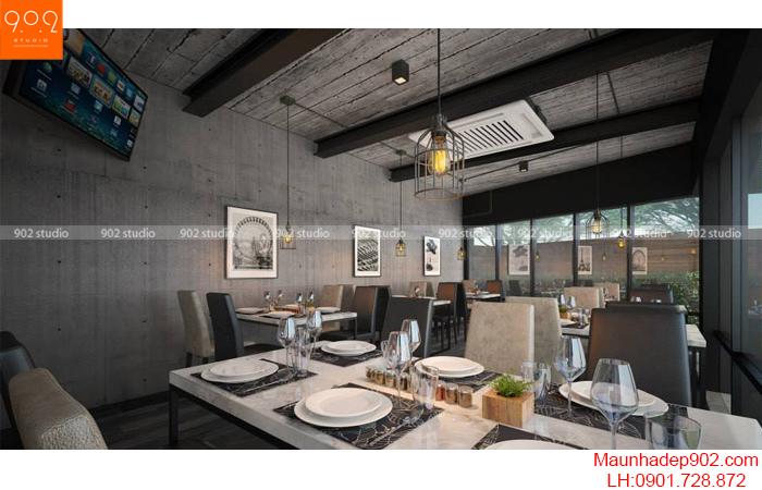 Thiết kế nội thất nhà hàng - Phối cảnh 3 - NH06