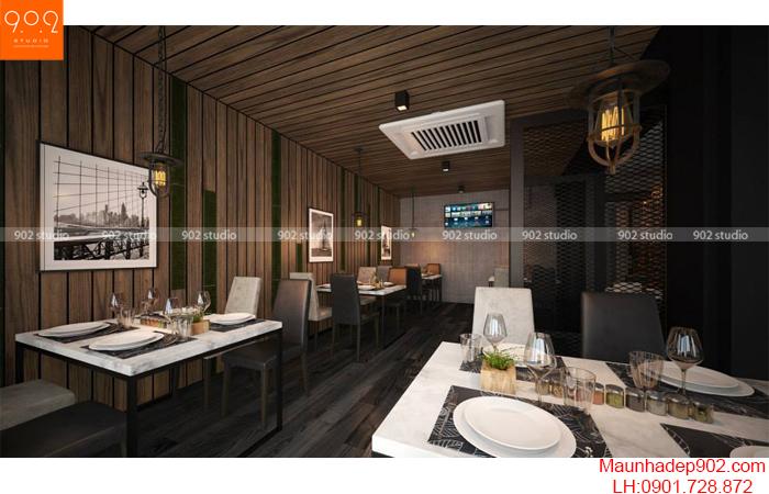 Thiết kế nội thất nhà hàng - Phối cảnh 4 - NH06