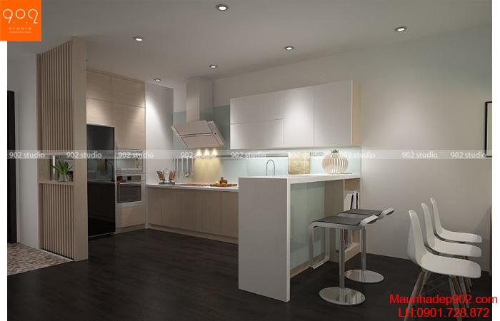 Thiết kế nội thất chung cư - Phòng bếp 2 -NT25