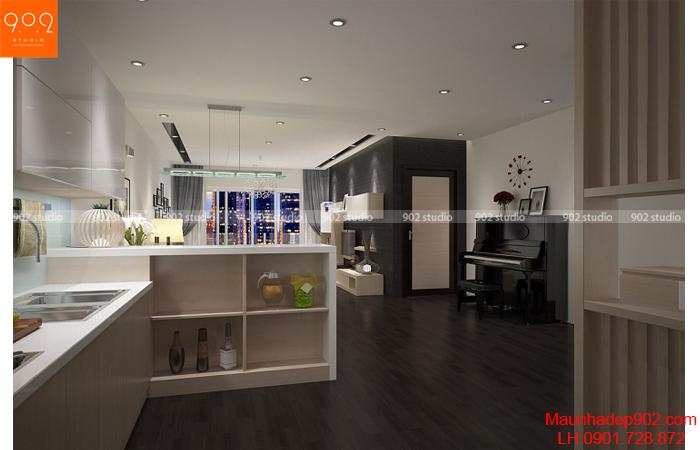 Thiết kế nội thất chung cư - Phòng bếp 1 -NT25