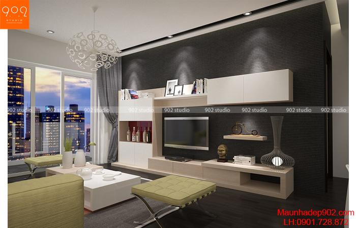 Thiết kế nội thất chung cư - Phòng khách 2 -NT25