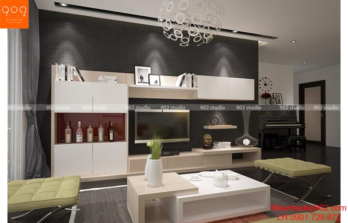 Thiết kế nội thất chung cư - Phòng khách -NT25