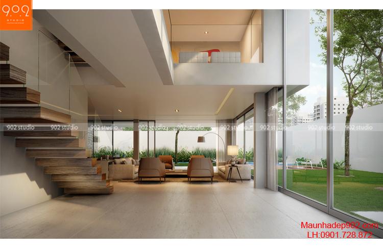 Thiết kế kiến trúc biệt thự 2 tầng - Nội thất - BT93