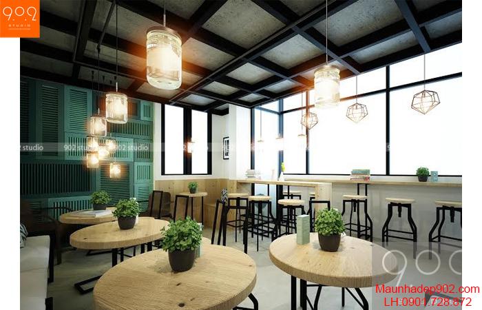 Thiết kế nội thất quán cafe - Phối cảnh 2 - NH04