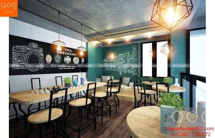 Thiết kế nội thất quán cafe - Phối cảnh 3 - NH04