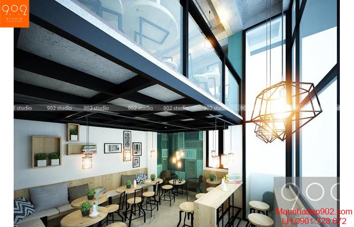 Thiết kế nội thất quán cafe - Phối cảnh 4 - NH04