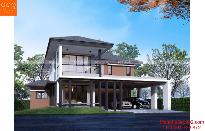 Thiết kế biệt thự 2 tầng - Phối cảnh - BT05