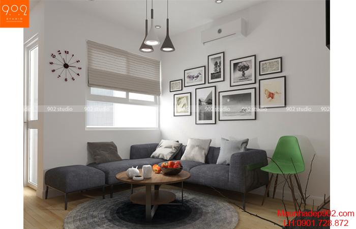 Thiết kế nội thất chung cư -Phòng khách 1 - NT15