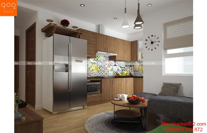 Thiết kế nội thất chung cư -Phòng khách 2 - NT15