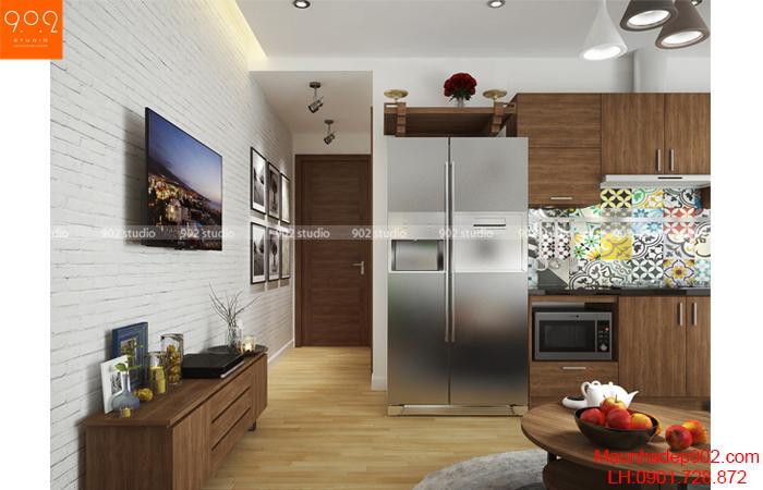 Thiết kế nội thất chung cư -Phòng khách 3 - NT15