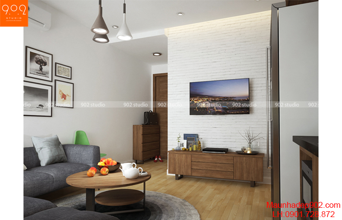 Thiết kế nội thất chung cư -Phòng khách 4 - NT15