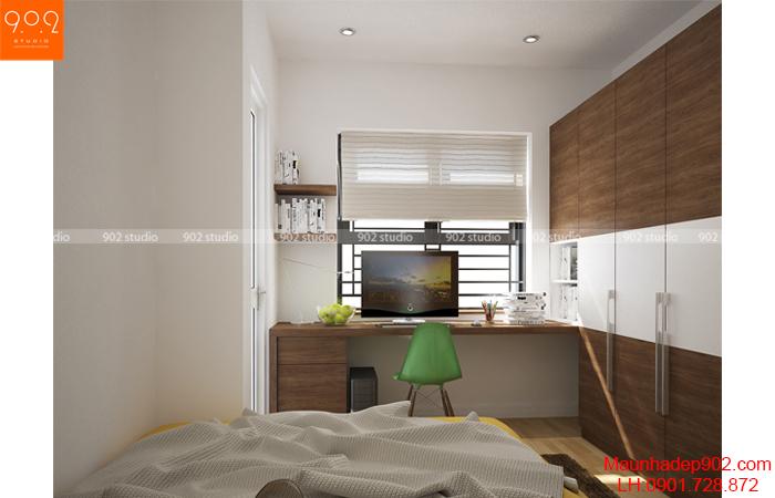 Thiết kế nội thất chung cư -Phòng ngủ 2 - NT15
