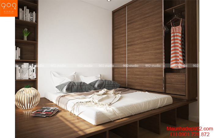 Thiết kế nội thất chung cư -Phòng ngủ 3 - NT15