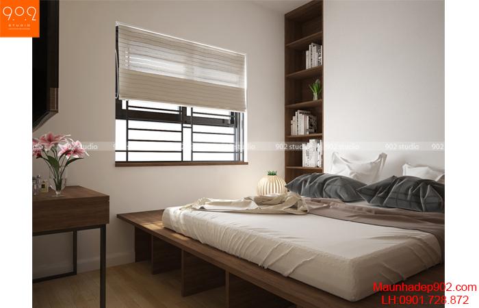 Thiết kế nội thất chung cư -Phòng ngủ 4 - NT15