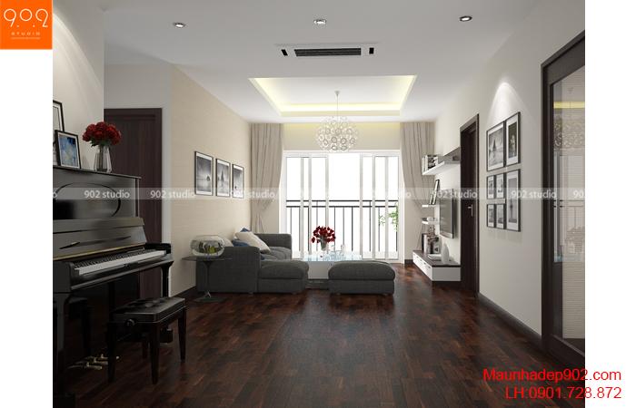 Thiết kế nội thất phòng khách chung cư - NT27