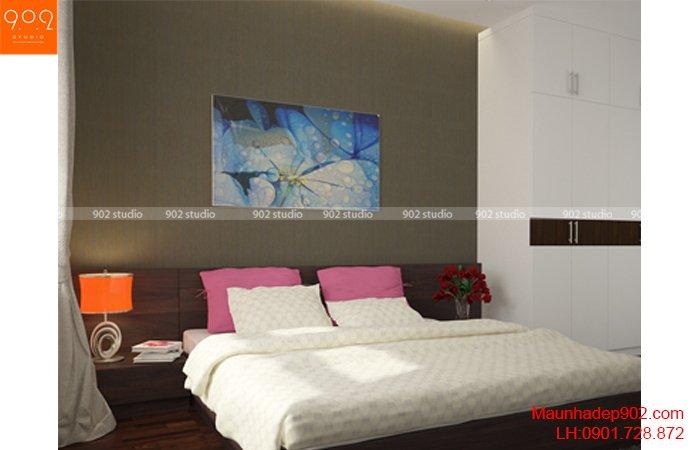 Thiết kế nội thất phòng ngủ chung cư - NT28