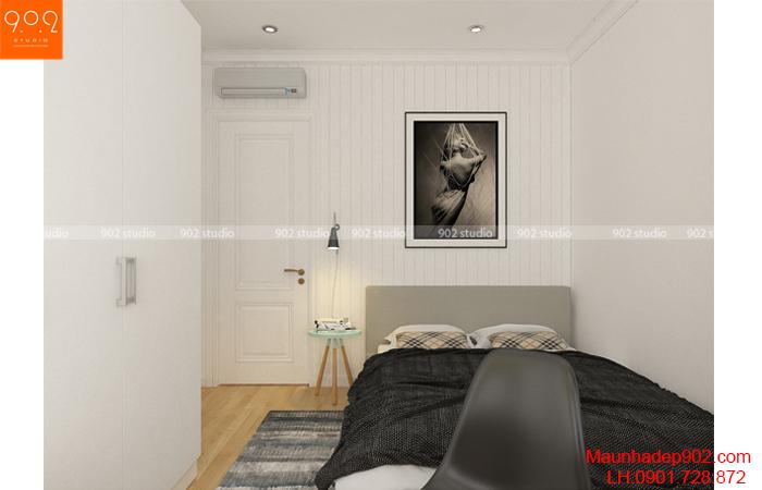 Thiết kế nội thất chung cư nhà chị Thương - Phòng ngủ - NT26