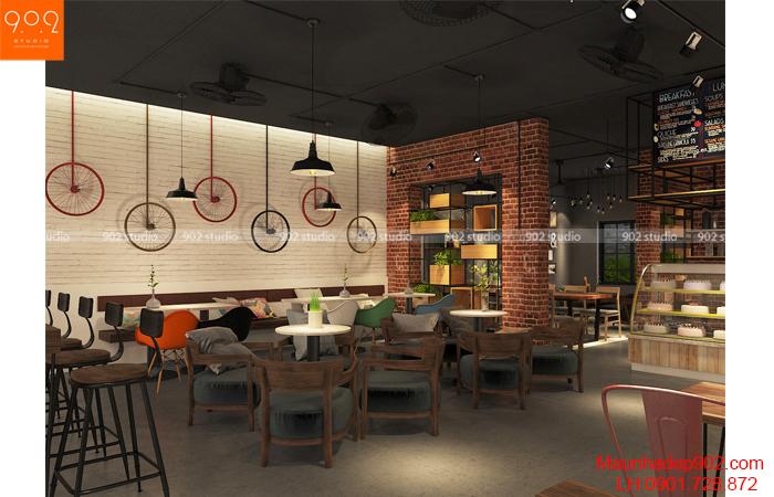 Thiết kế nội thất quán cà phê Yên Bái - NH07
