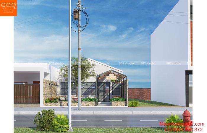 Thiết kế nội thất quán cà phê Yên Bái - Phối cảnh - NH07
