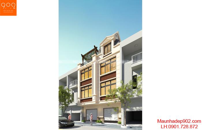 Nhà phố đẹp 4 tầng - Phối cảnh - NP24