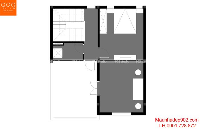 Nhà phố đẹp 4 tầng - MB4 - NP24