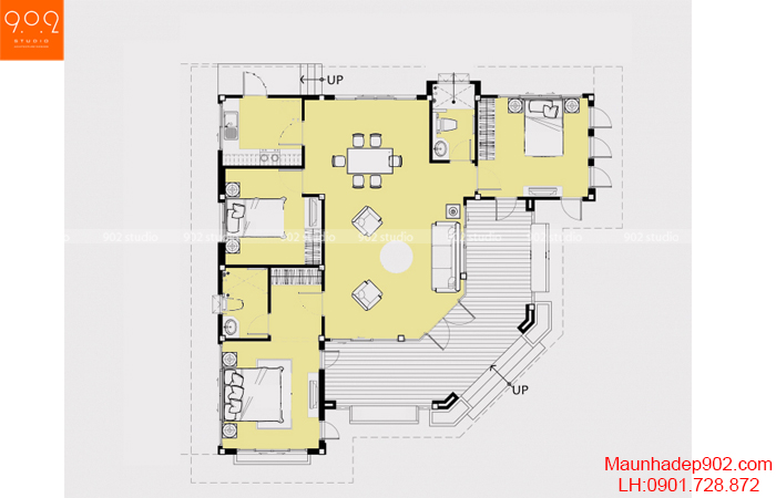 Nhà đẹp 1 tầng - MB - BT117