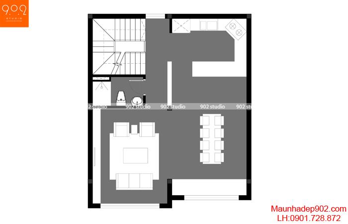 Nhà phố đẹp 4 tầng - MB2 - NP24