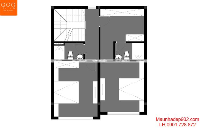 Nhà phố đẹp 4 tầng - MB3 - NP24