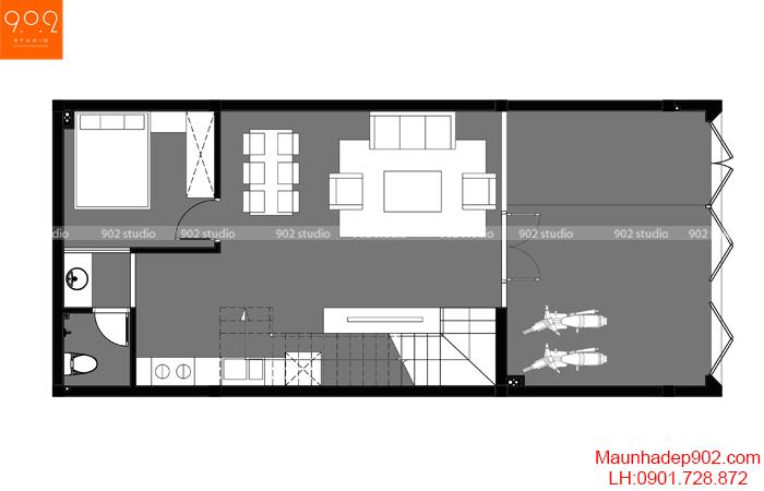Nhà đẹp đơn giản - MB1 - NP26