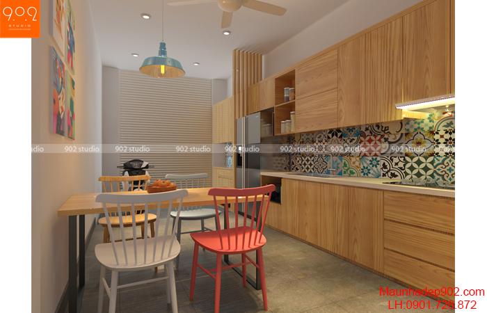 Nội thất nhà phố đẹp - Phòng bếp - NT30