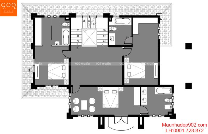 Biệt thự đẹp mới - MB4 - BT119