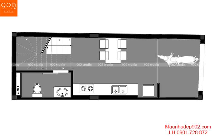 Nội thất nhà phố đẹp - MB1 - NT30