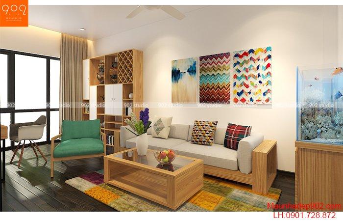 Nội thất nhà phố đẹp - Phòng khách - NT30