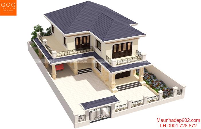 Biệt thự 2 tầng mái thái đẹp hình ảnh 3 BT-122