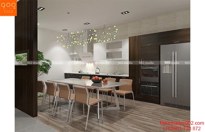 Thiết kế nội thất phòng ăn shophouse ((nguồn: maunhadep902.com)