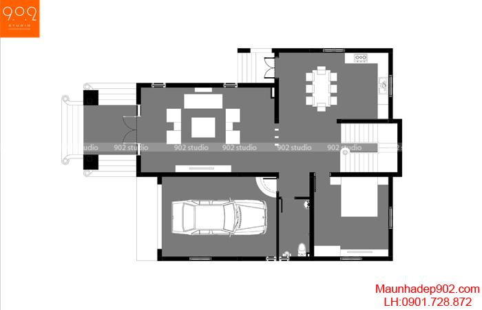 Chi tiết mặt bằng tầng 1