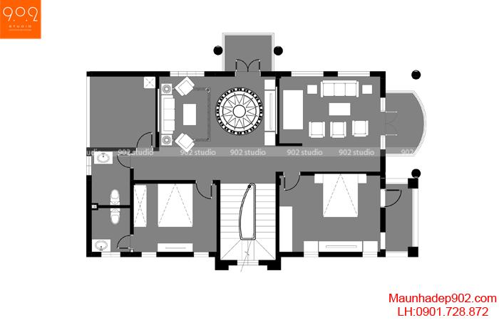 Biệt thự 2 tầng mái thái đẹp - MB2