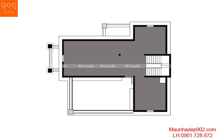 Chi tiết mặt bằng tầng 4
